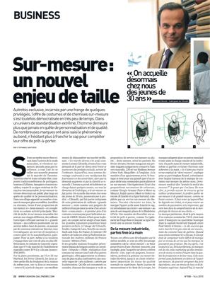 Magazine Fashion Daily News - Sur-mesure : un nouvel enjeu de taille