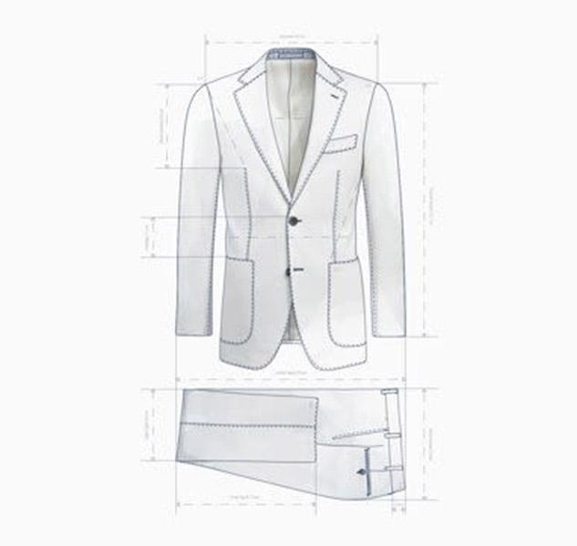 coupe et dimensions d'un costume