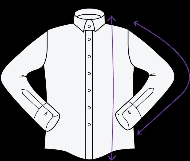 Longueur Manches et Dos d'une chemise