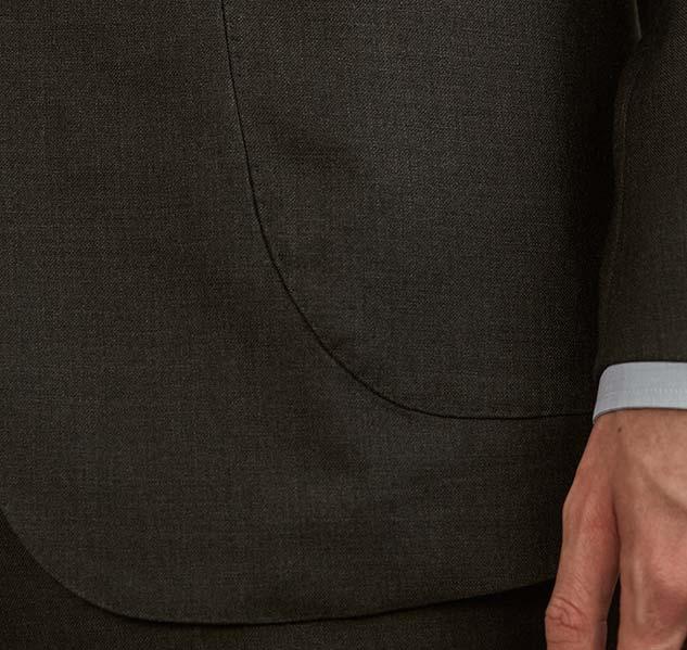 Poche costume gris anthracite