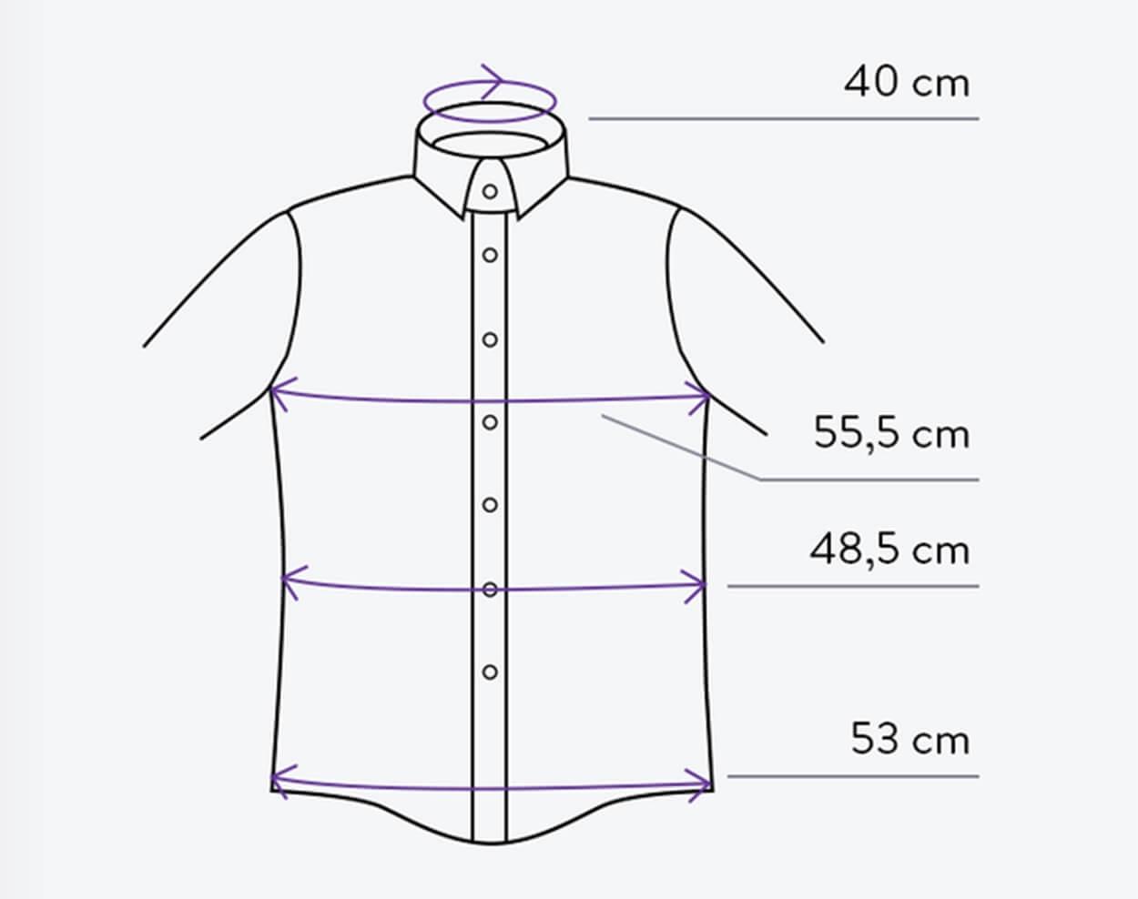 taille d'une chemise