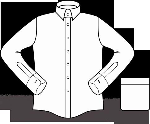 Broderie sur la chemise