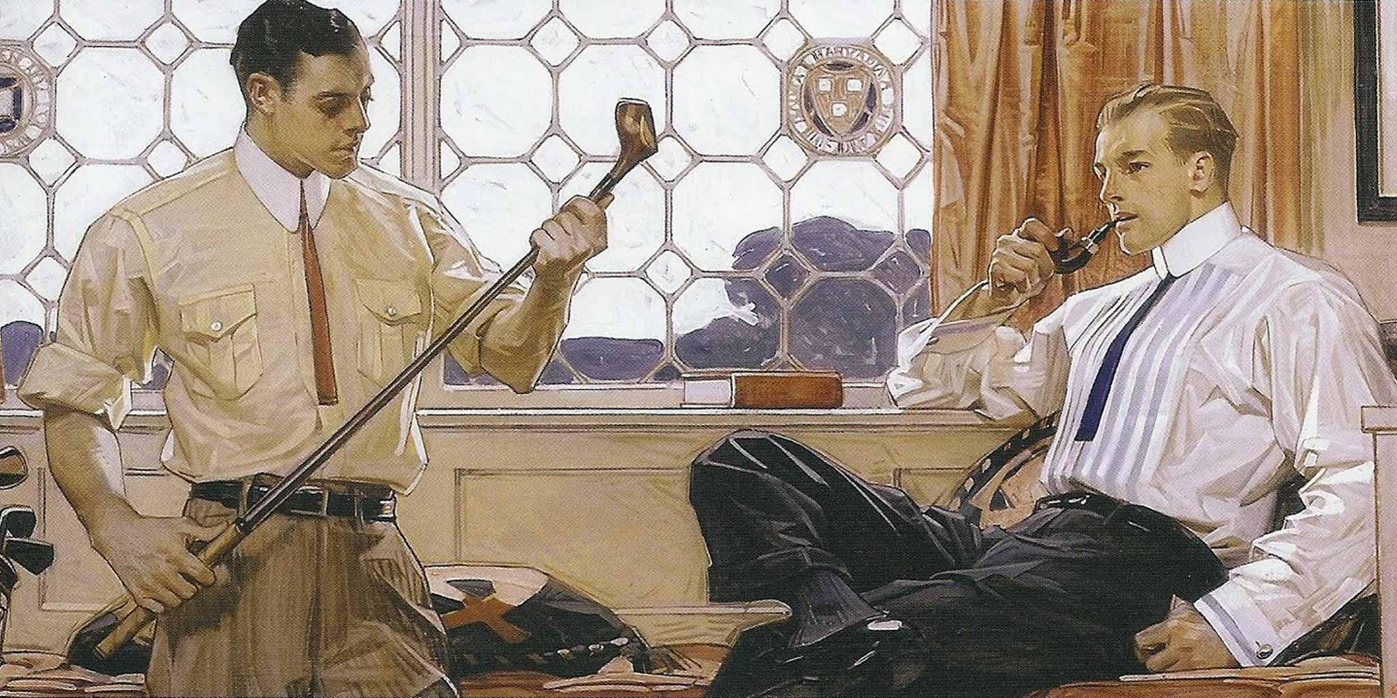 JC Leyendecker peint les Dandys