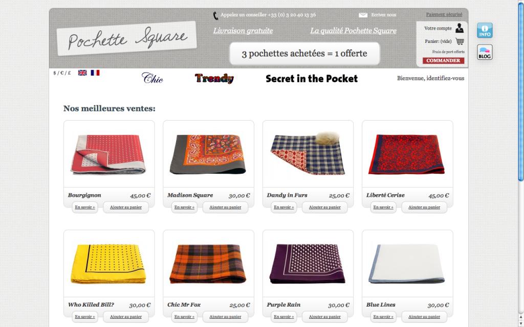 Site Web de Pochette Square