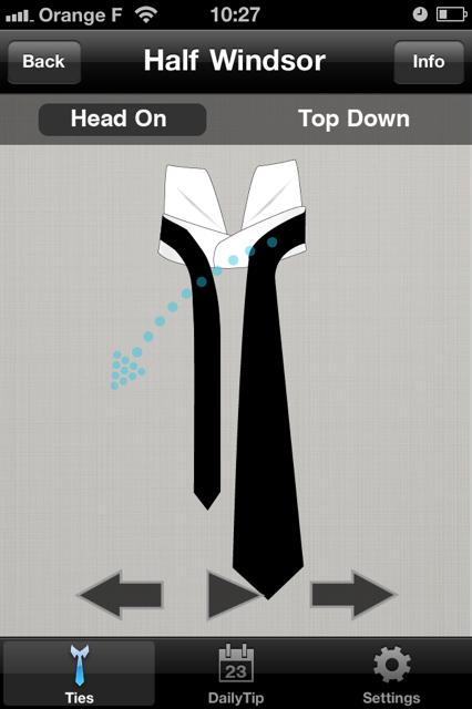 comment faire vos noeuds de cravate application iphone. Black Bedroom Furniture Sets. Home Design Ideas