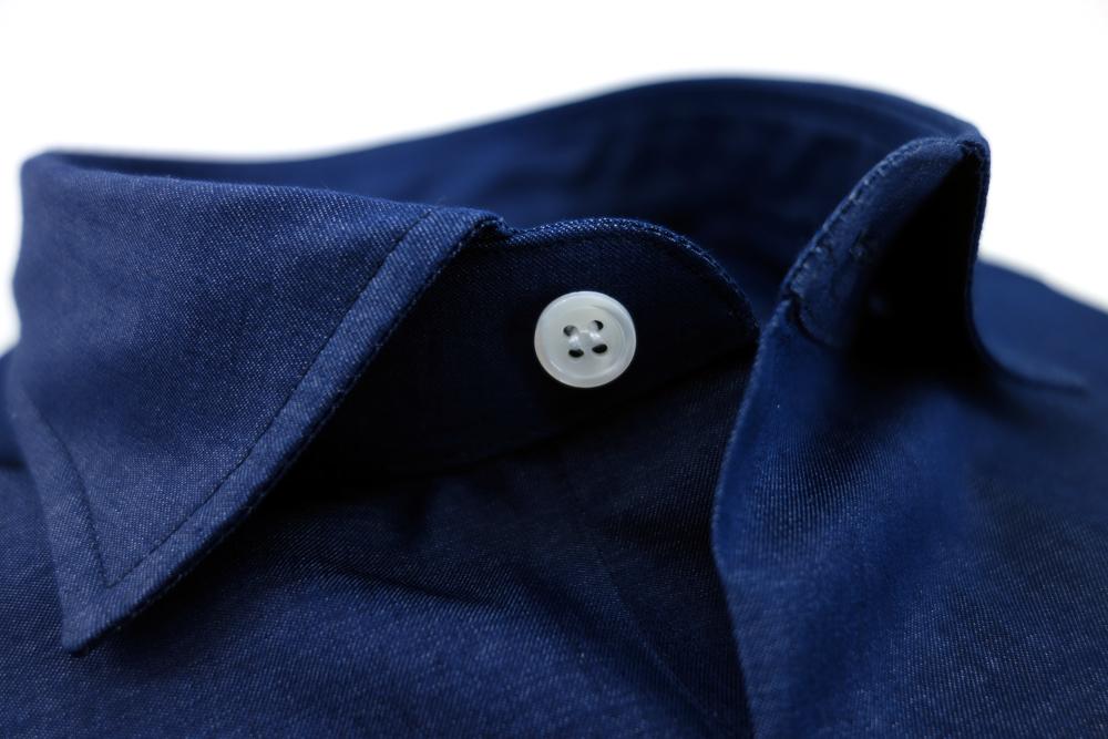 col non thermocolle chemise en denim par swann et oscar