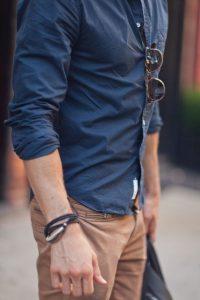 chemise-bleu-marine-casual