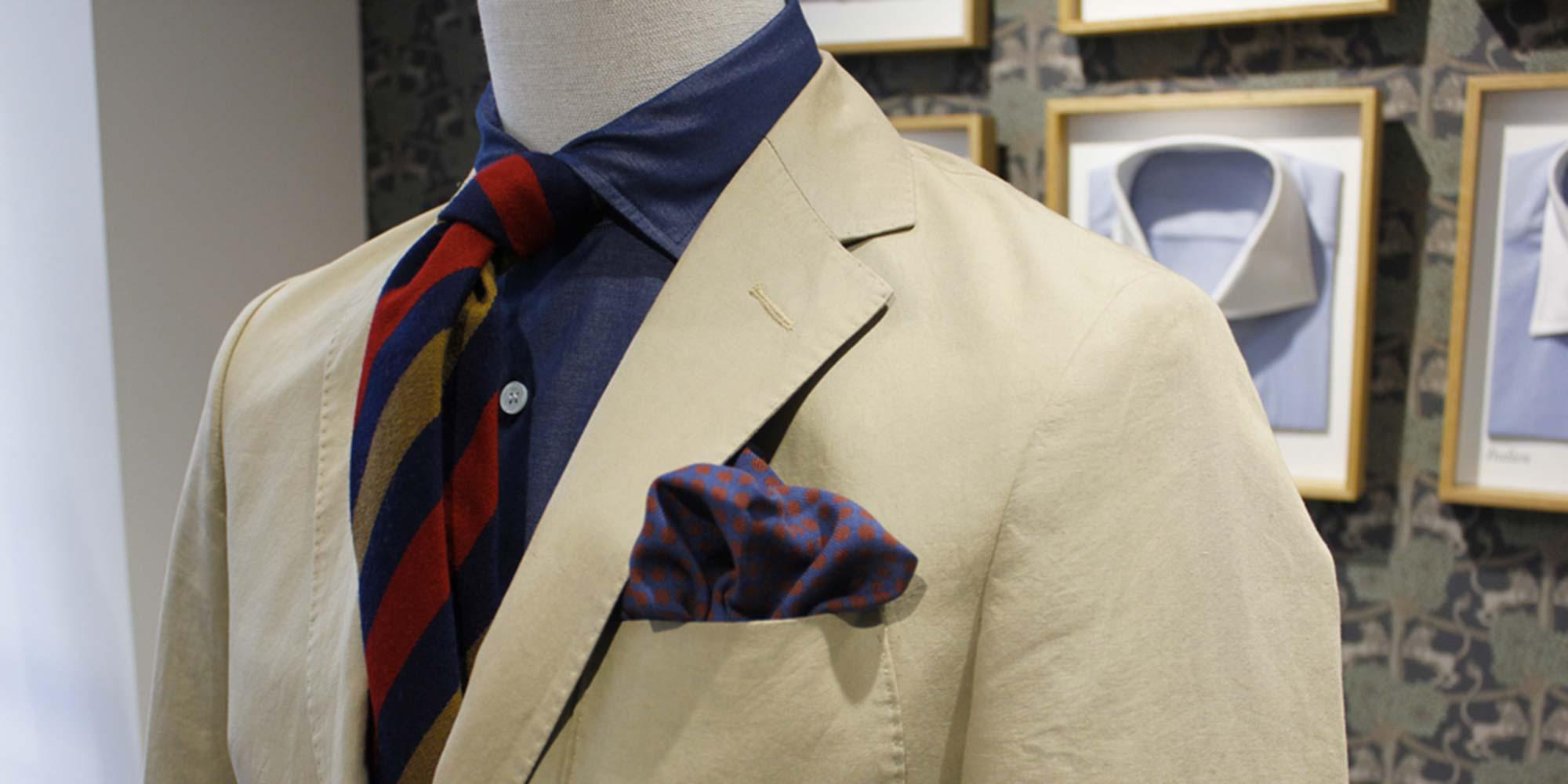 La chemise en denim et soie Albiate 1830