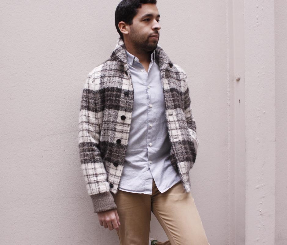 chemise sur mesure en flanelle grise