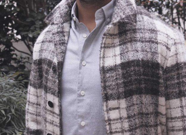 La chemise en flanelle grise Thomas Mason