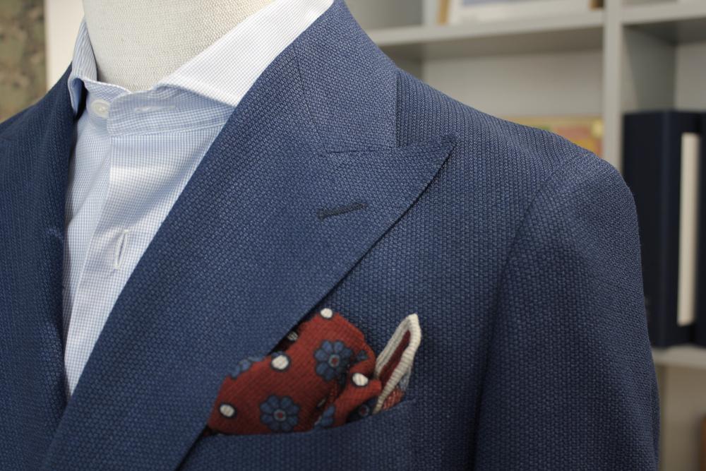 veste croisee bleu