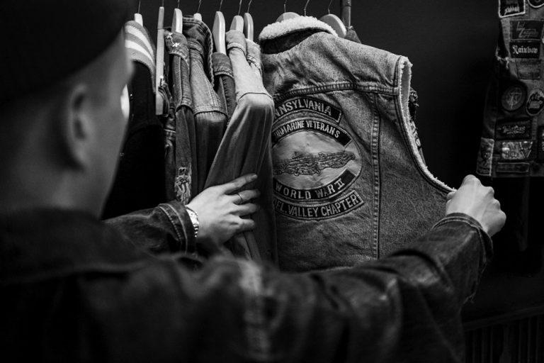 veste en jeans vintage
