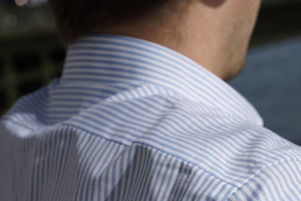 details chemise coton lin