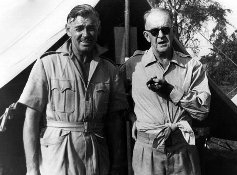 Clark Gable John ford - tournage Mogambo