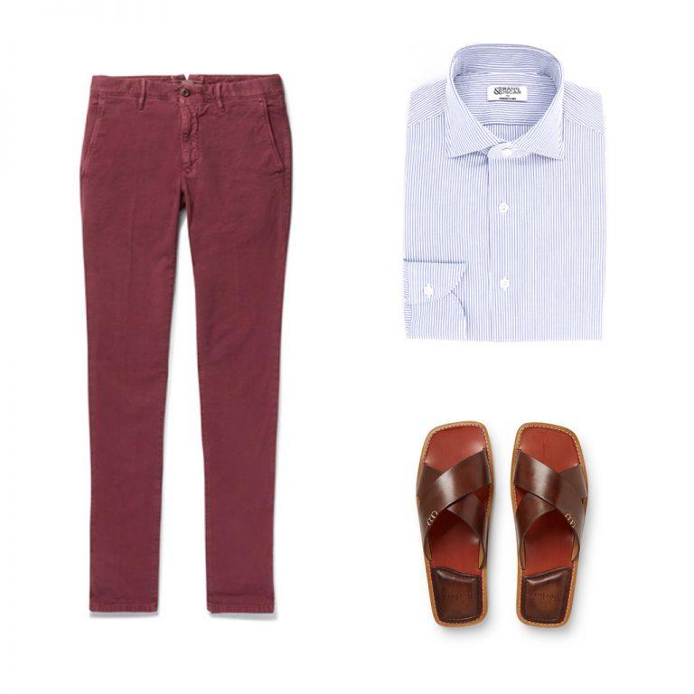 look-chemise-seersucker-pantalon-rouge