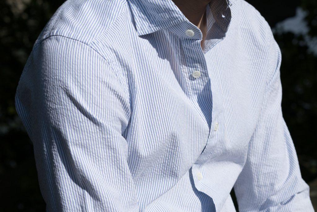 chemise tissu seersucker