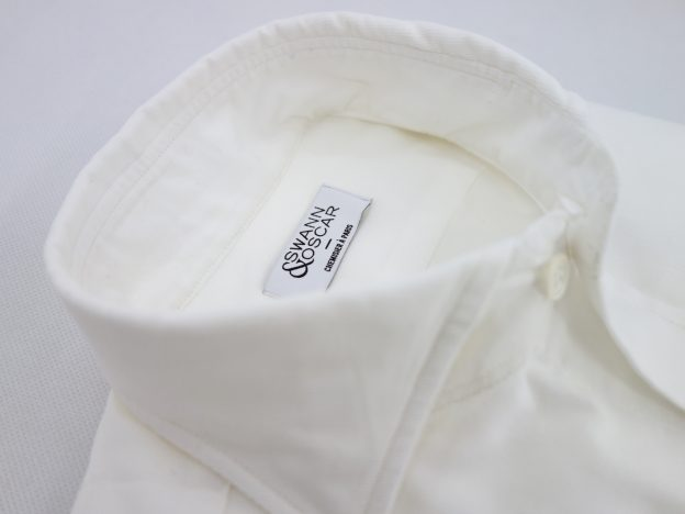 Chemise en velours blanc casse swann et oscar