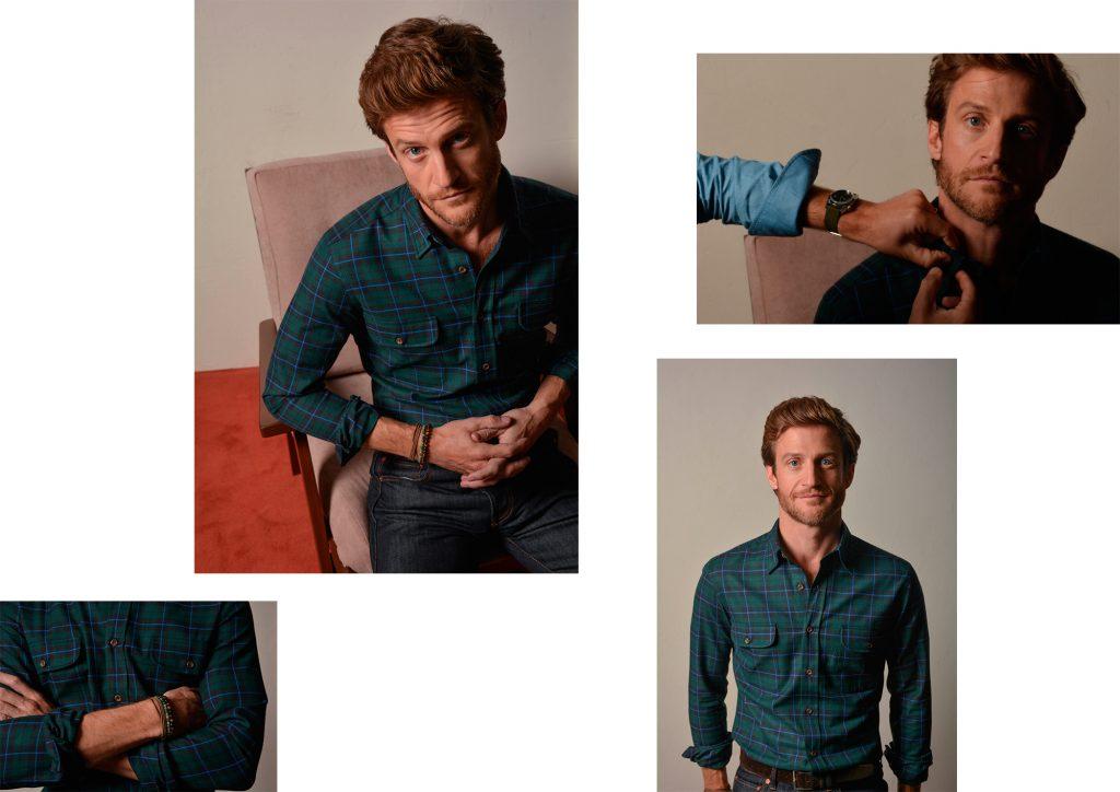 Lookbook chemise tartan vert Swann et Oscar