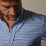 lookbook veste bleu chemise flanelle1