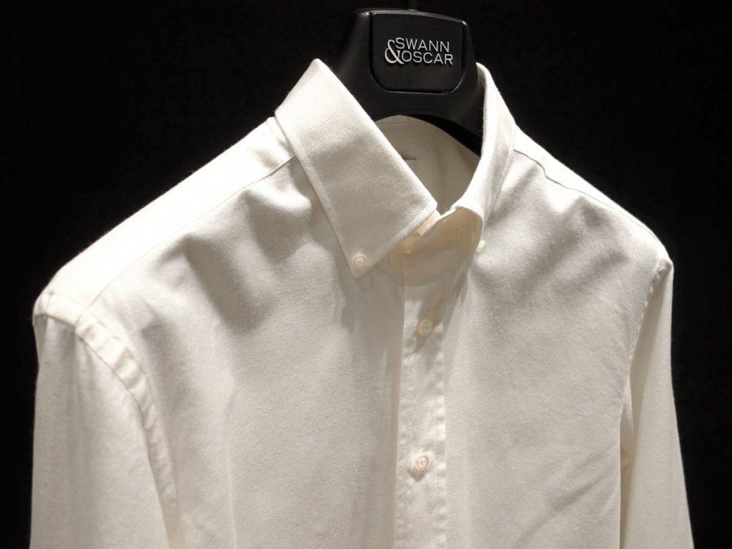 Chemise oxford coton laine