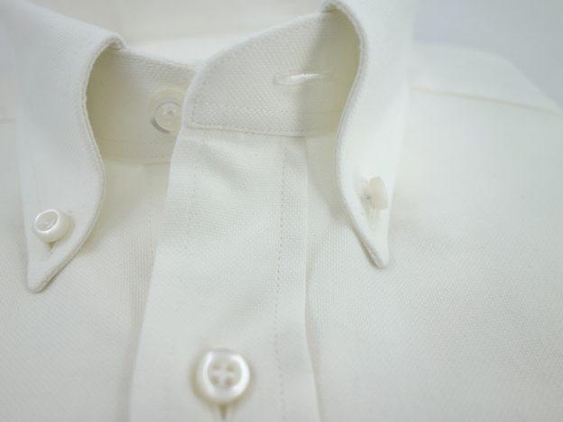 Col boutonne chemise coton laine