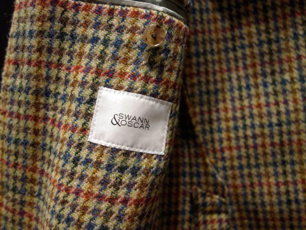 Etiquette Swann et Oscar veste tweed