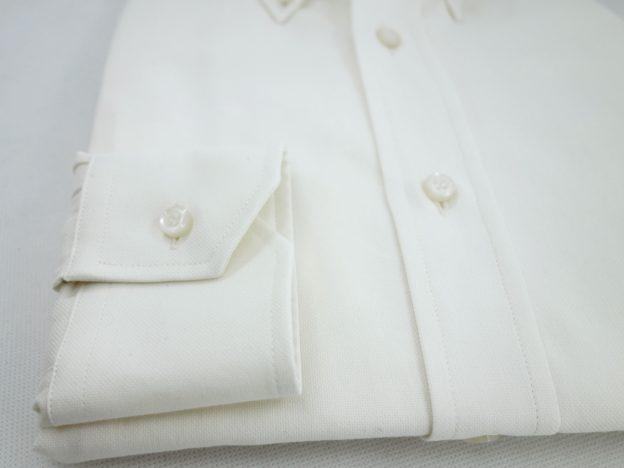 Poignet cassé chemise blanc ecru