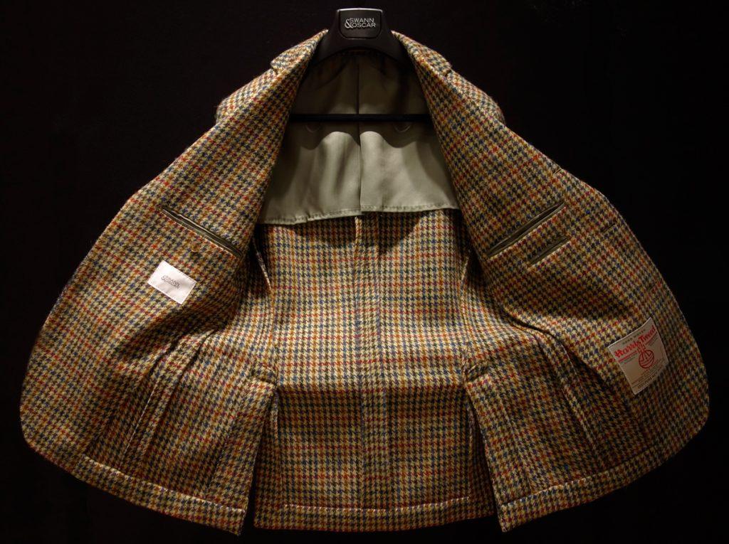 veste en tweed non doublée
