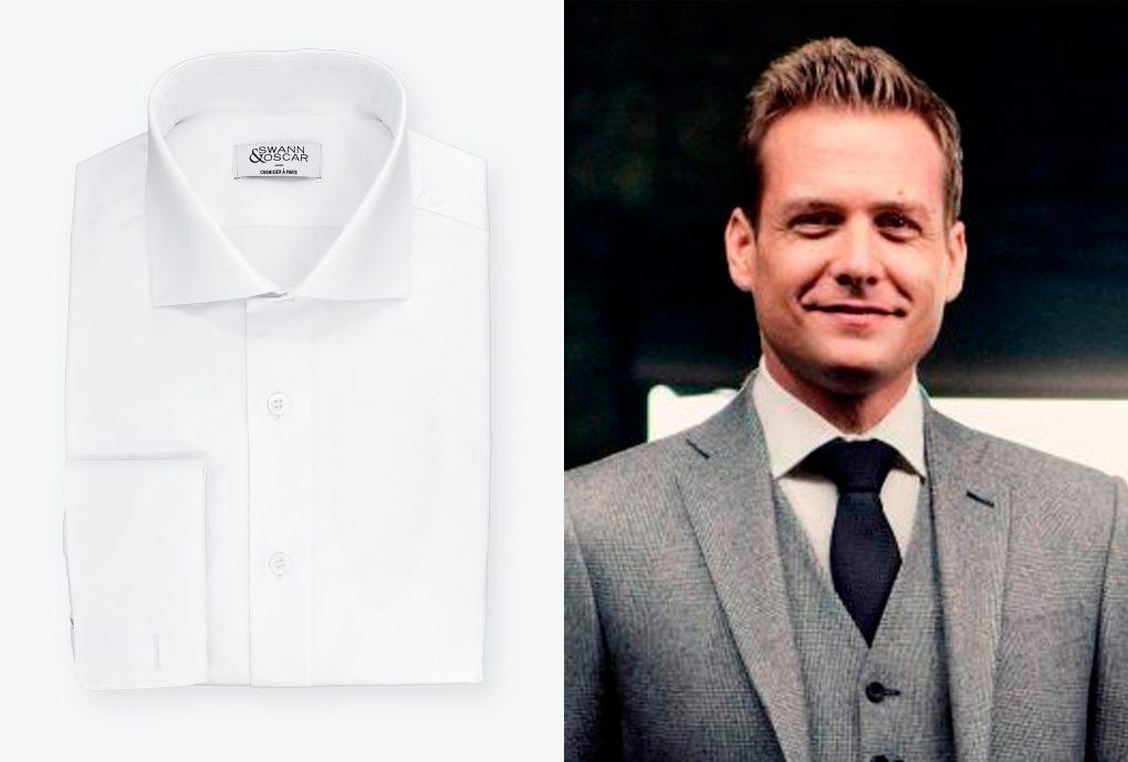 chemise blanche col italien harvey specter