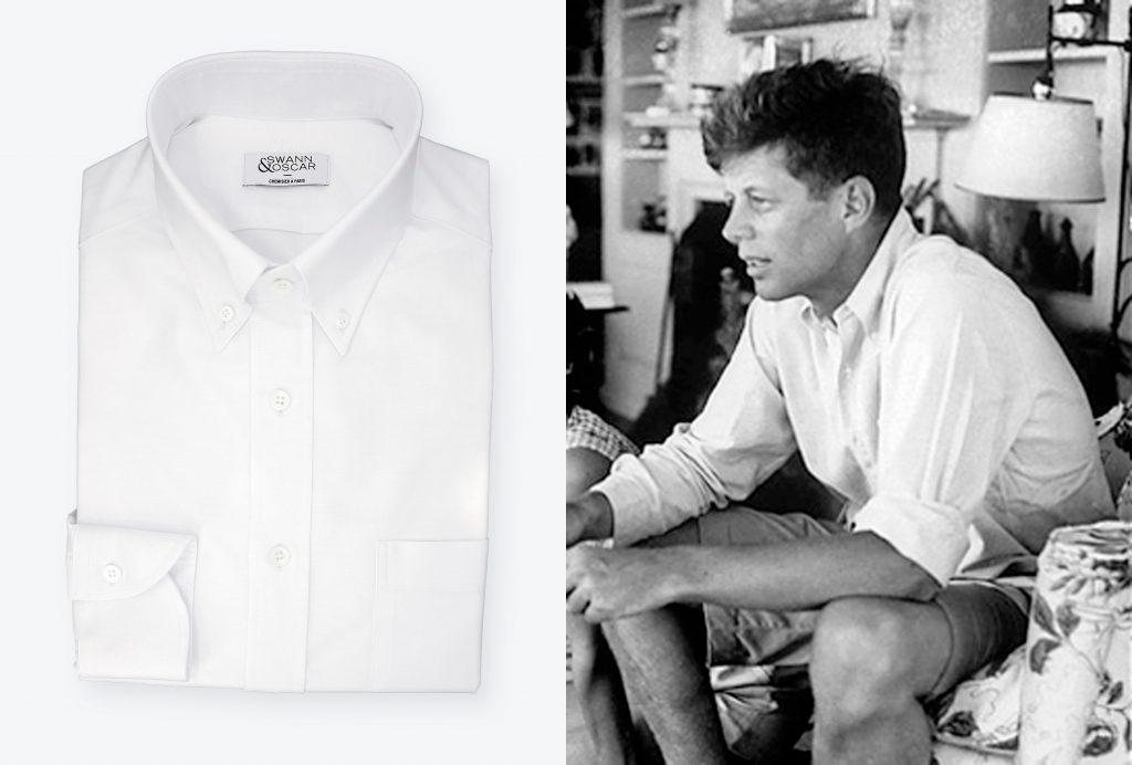 chemise blanche oxford jfk