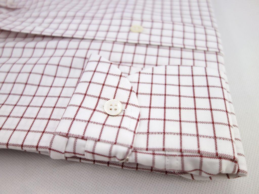 chemise oxford careaux rouge CH081986
