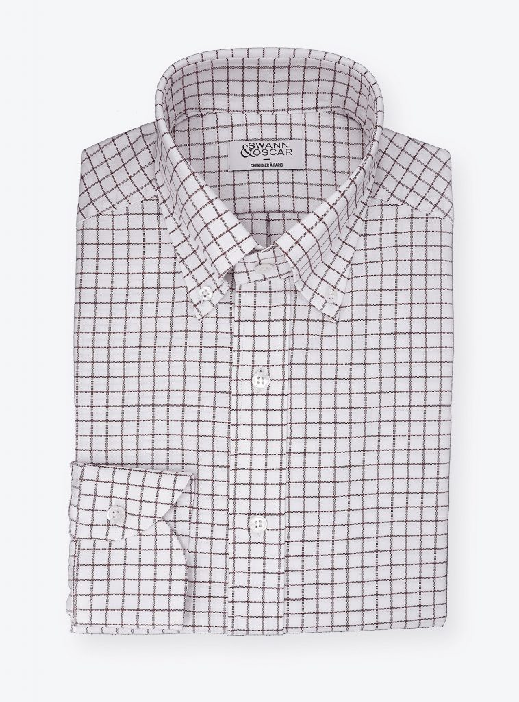 chemise oxford careaux rouge CH081986