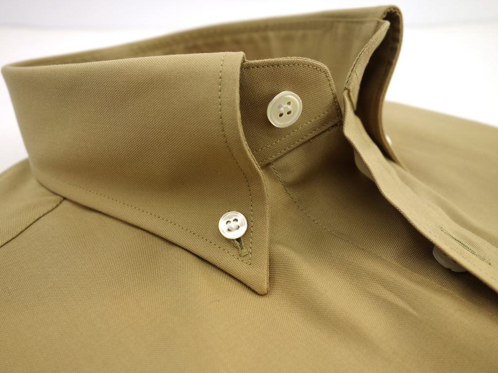 col boutonne chemise beige CH081993