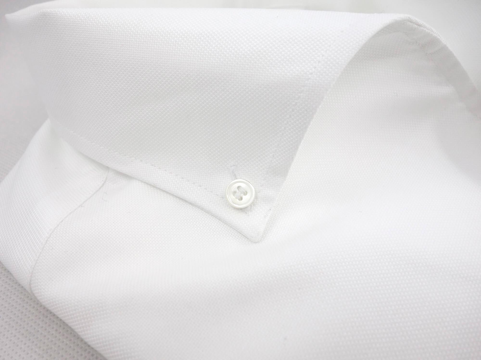 Détails col miami et tissu oxford blanc