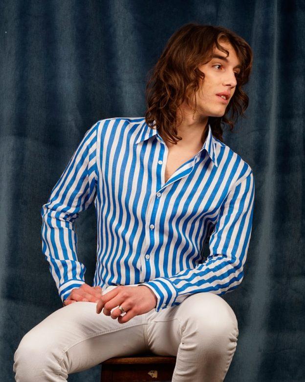 Phoenix-butcher-stripes-bleues