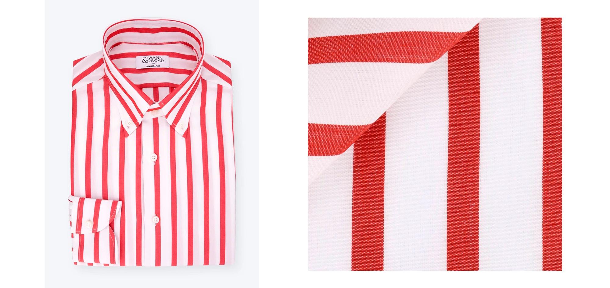 chemise-popeline-rouge-large-rayures