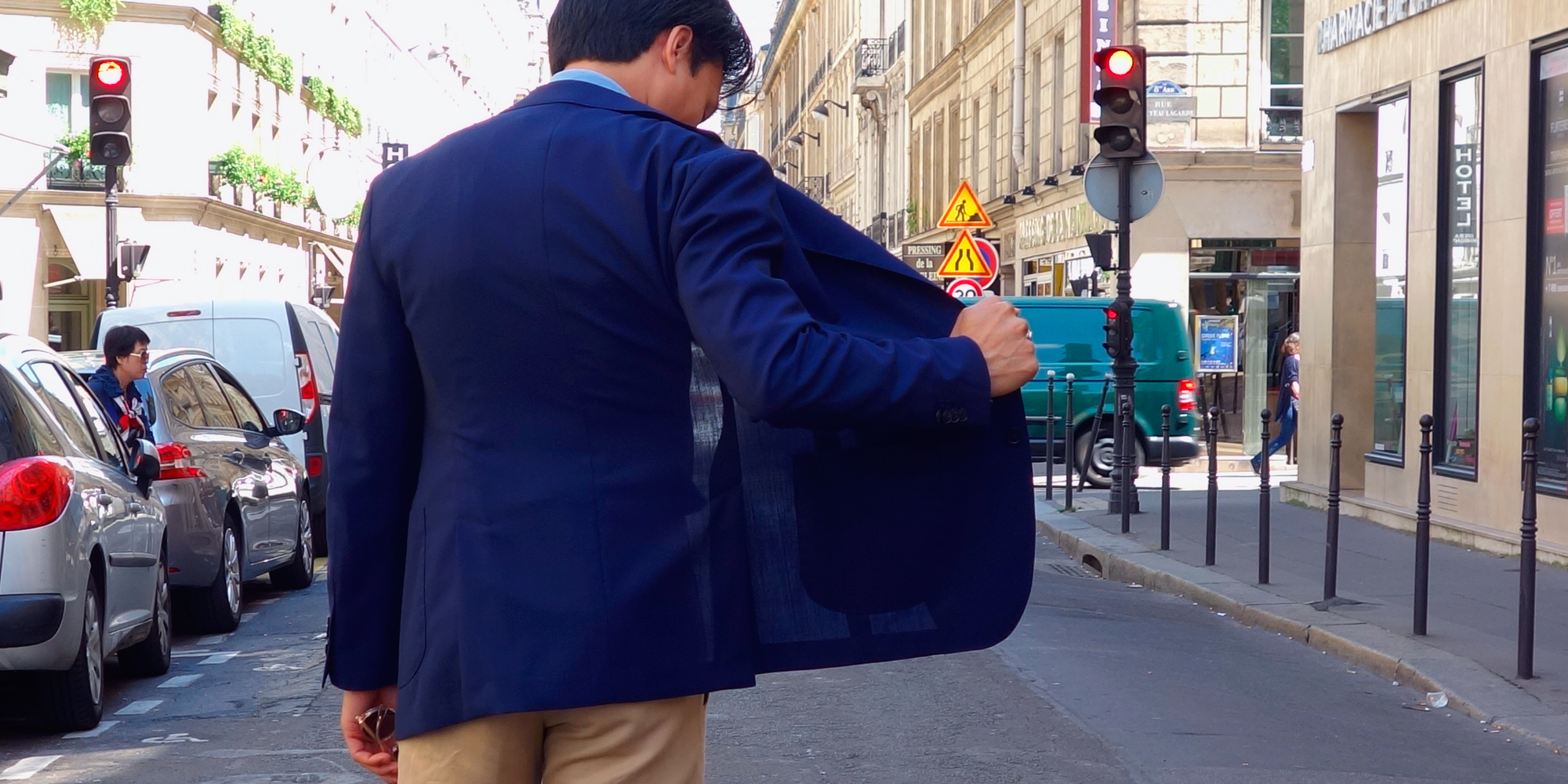 La travel jacket par Swann et Oscar
