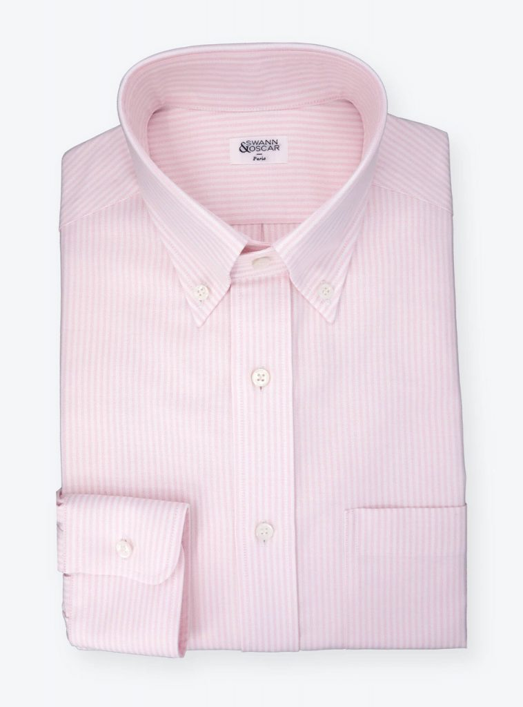 Chemise-oxford-raye-rose-CH093395