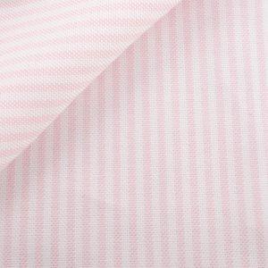 tissu oxford rose rayure