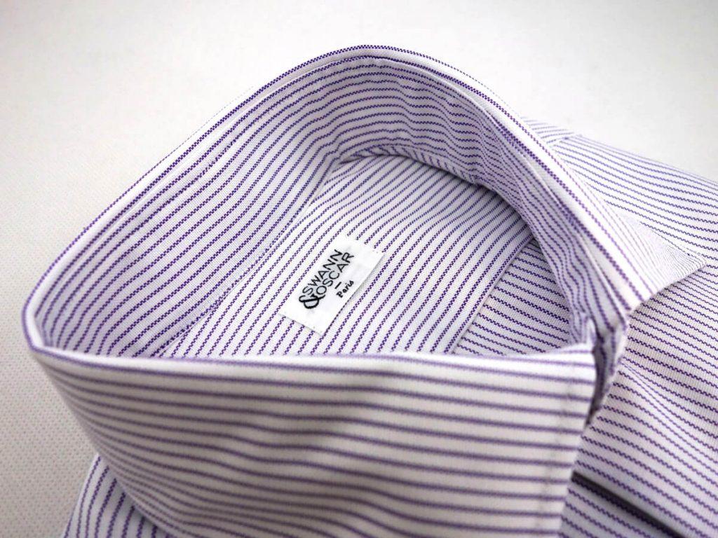 chemise col italien oxford parme