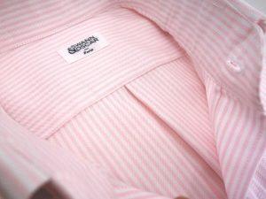 chemise pli central oxford raye rose