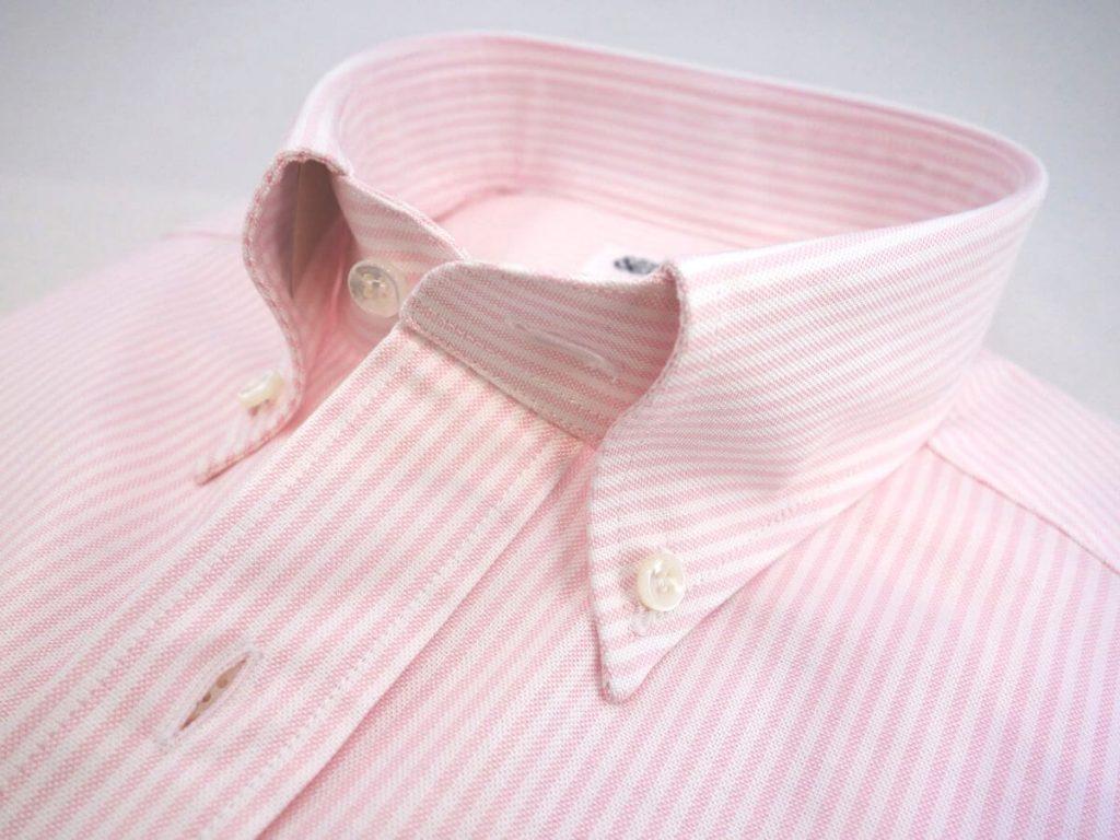 col boutonne chemise rose swann et oscar