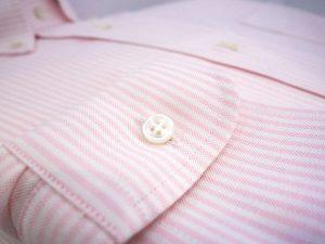poignet chemise oxford raye rose