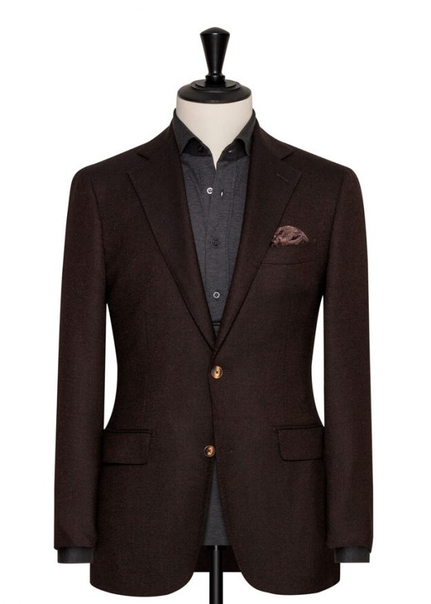 Veste marron faux uni angelico