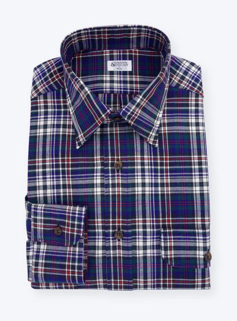 Chemise-tartan-carreaux-bleu-rouge