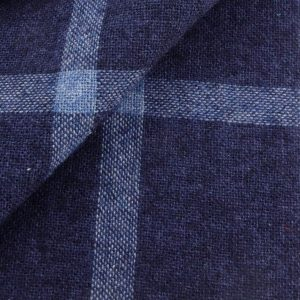 tissu flanelle carreaux bleu