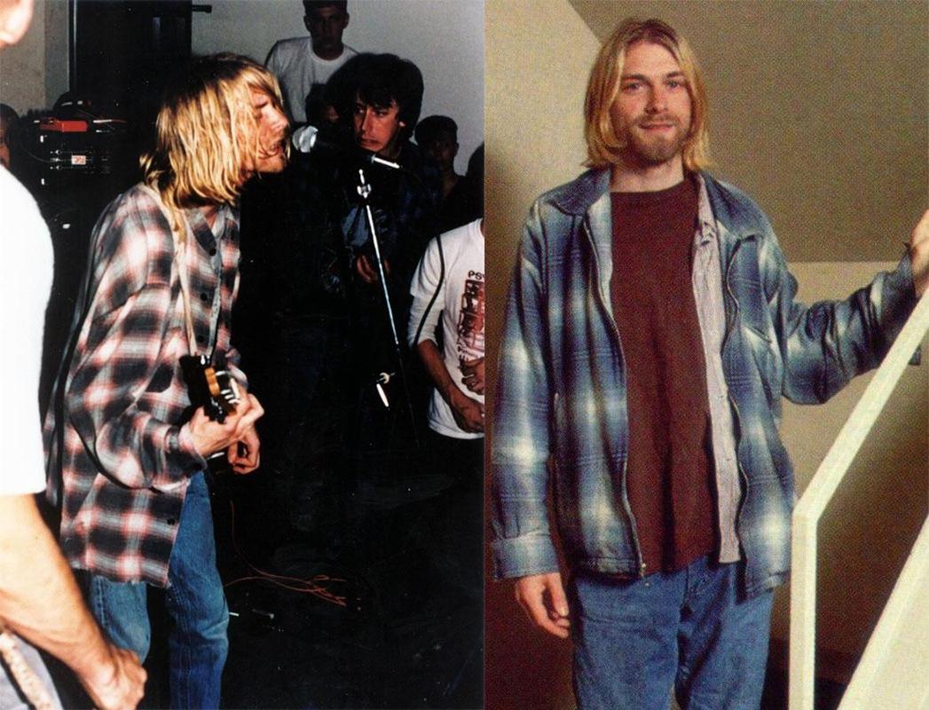 kurt cobain grunge chemise flanelle plaid