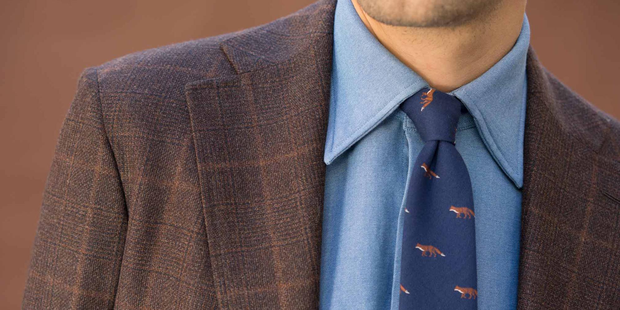 Une veste marron pour l'automne