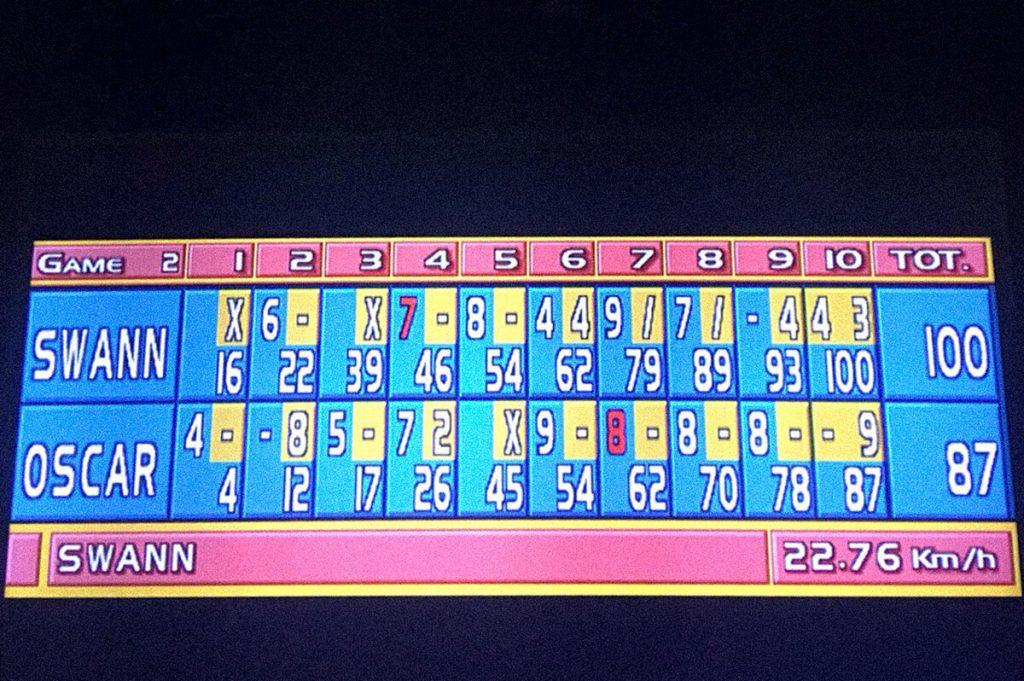 tableau d'affichage bowling swann et oscar