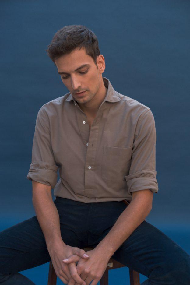 chemise beige marron popover